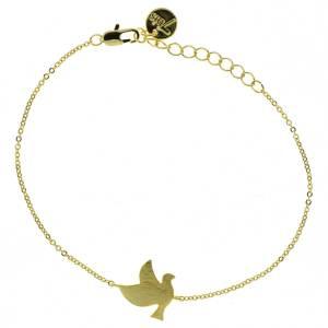 370768DOR Bracelet Colombe Doré Délicate Finition
