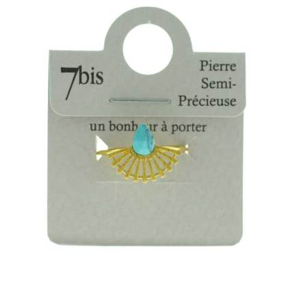870065TURDOR Bague Goutte Turquoise Silhouette Paon Turquoise