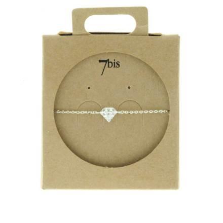 329460ARG Bracelet Diamant Argenté Relief Zircon