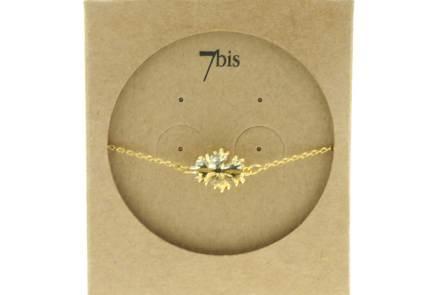 329461DOR Bracelet Flocon-de-neige Doré Bicolre 3d Poetique