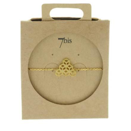 337152DOR Bracelet Cubes Perspective Doré Empilés Géométrique