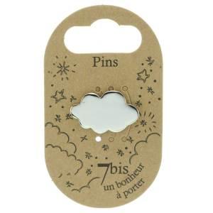 970983ARG Pin's Nuage Argenté Design Plein