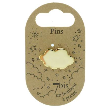 970983DOR Pin's Nuage Doré Design Plein