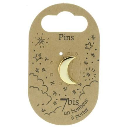 970985DOR Pin's Lune Doré Design Plein