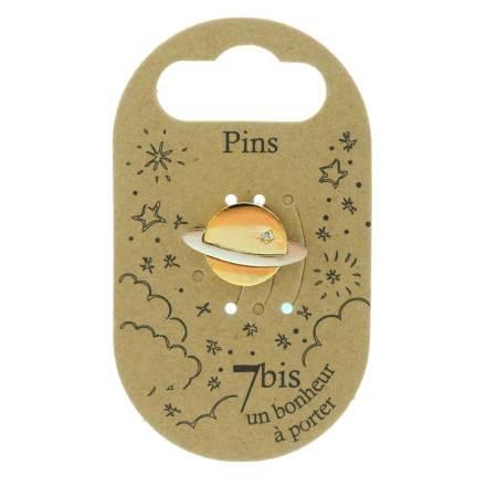 970986DOR Pin's Planète Bocilore Doré Argenté Design Strass