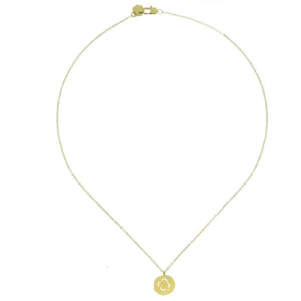 170230DORINX Collier Trèfle Doré Médaille Acier Inoxydable 316l