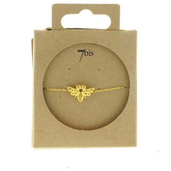 370916DOR Bracelet Abeille Doré Reperçé Design