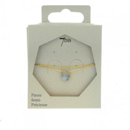 371311GRI Bracelet Étoile Doré Pierre Semi-précieuse Gris