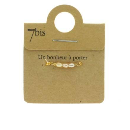 871183PEC Bague Perle D'eau Douce Pêche Coulissante Ajustable