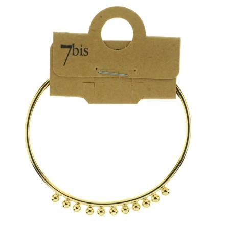 370806DOR Bracelet Jonc Doré Ajustable Billes