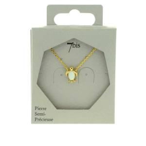 171666BLADOR Collier Tortue Doré Pierre Semi-précieuse Opale Naturelle