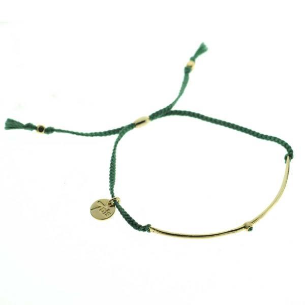 330012C bracelet arc dore vert strass ajustable collection autres 7bis