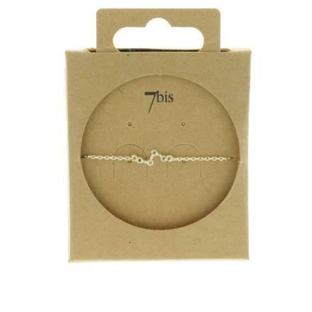 370609ARG Bracelet Étoile Argenté Constellation Strass