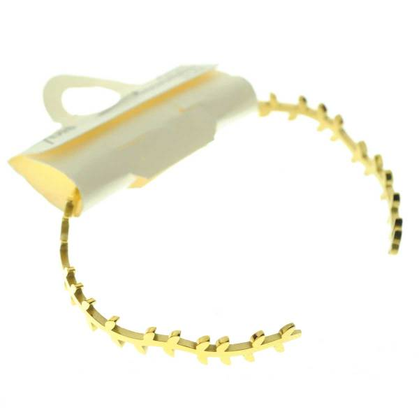 371303DORINX Bracelet Jonc Doré Épis Ondulé Acier Inoxydable