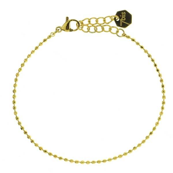 371614DOR Bracelet Chaîne Fine Doré Ajustable Acier Inoxydable