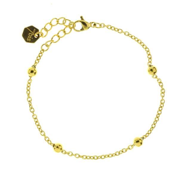 371624DOR Bracelet Chaîne Épaisse Doré Ajustable Acier Inoxydable