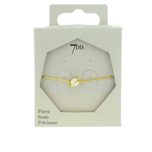 371668BLADOR Bracelet Planète Doré Pierre Semi-précieuse Opale Naturelle