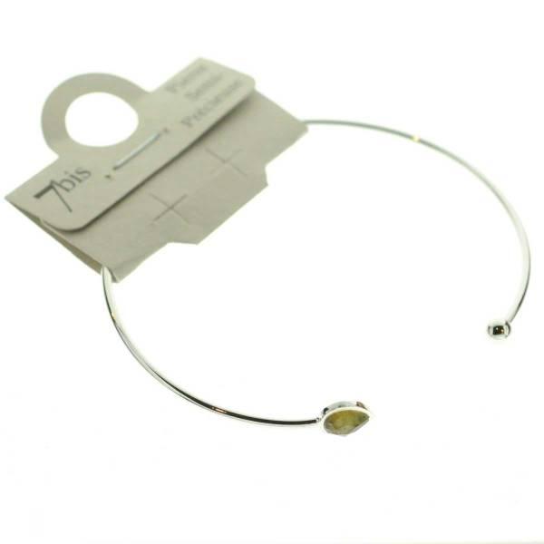 371674MARARG Bracelet Jonc Doré Maron Ajustable Goutte Et Boule