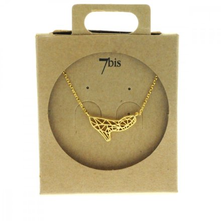 138913DOR Collier Escarpin Doré Estampe Graphique
