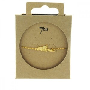 337832DOR Bracelet Perroquet Doré Plein Origami Laiton
