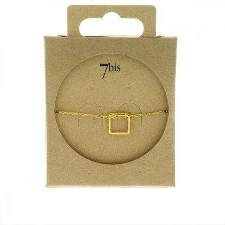 338718DOR Bracelet Losange Doré Géométrique Laiton