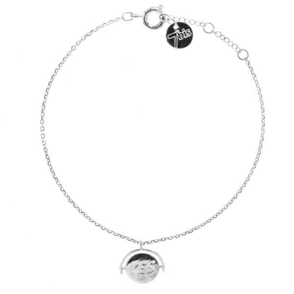 338911ARG Bracelet Yes No Argenté Réversible Médaille Gravée