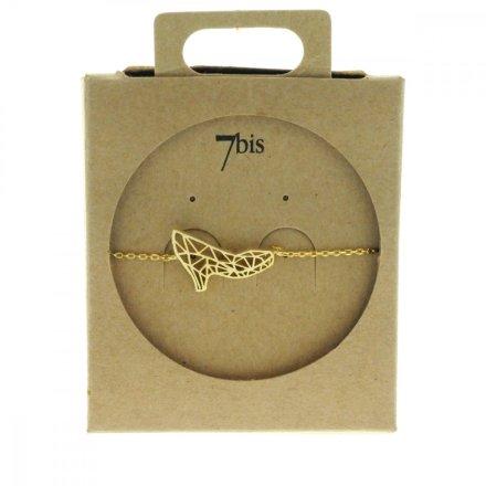 338913DOR Bracelet Escarpin Doré Estampe Graphique