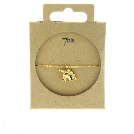 370286DOR Bracelet Licorne Doré Figurine Délicate