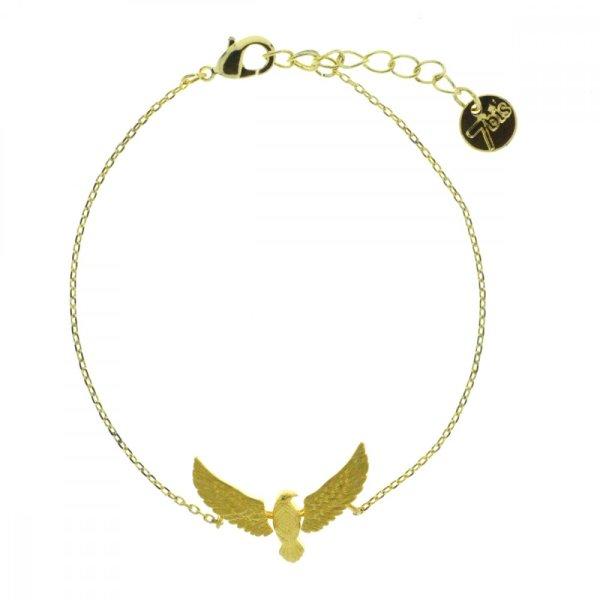 370586DOR Bracelet Aigle Doré Articulé Laiton