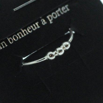 871499ARG13 Bague Trois Boules Centre Argent 925 Taille Unique Délicat