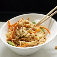 Peanut sesame shirataki noodles