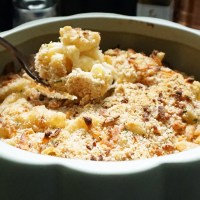Three-cheese brown butter truffle mac and cheese