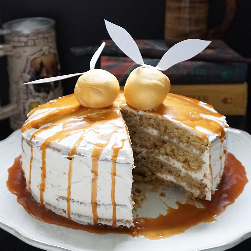 Harry Potter Inspired Butterbeer Cake Bijoux Amp Bits