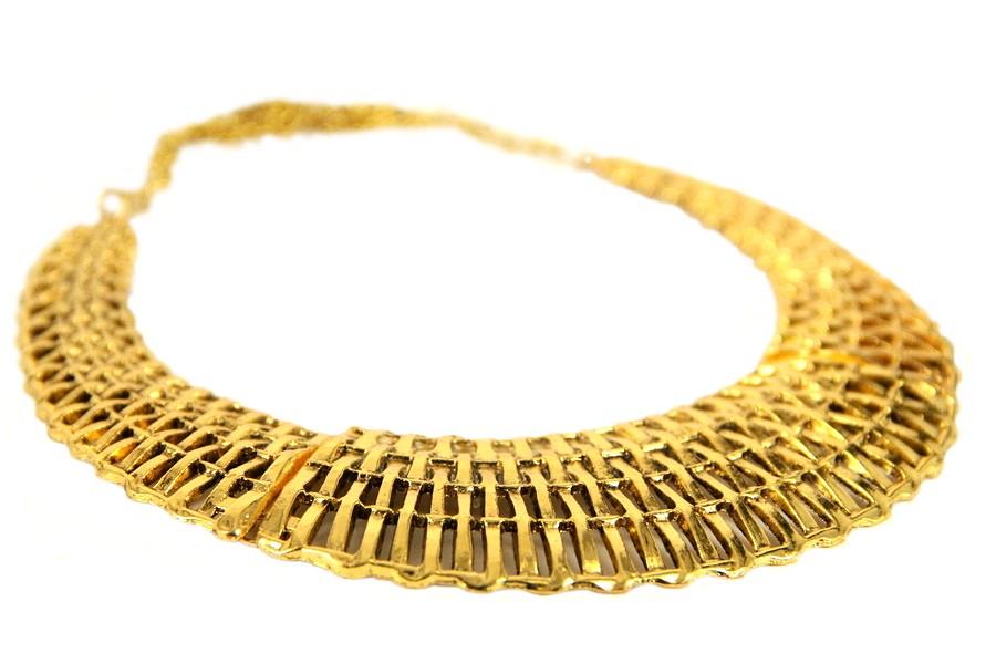 Collier ethnique doré or