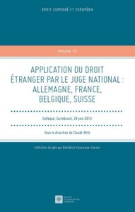 Application du droit étranger par le juge national