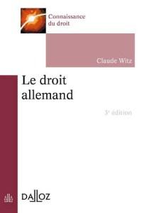 Le droit allemand, 3ème édition
