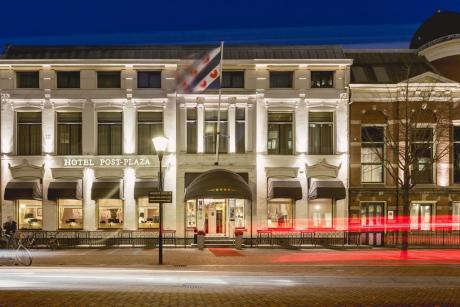Slapen in een voormalig postkantoor - Hotel Post Plaza in Leeuwarden