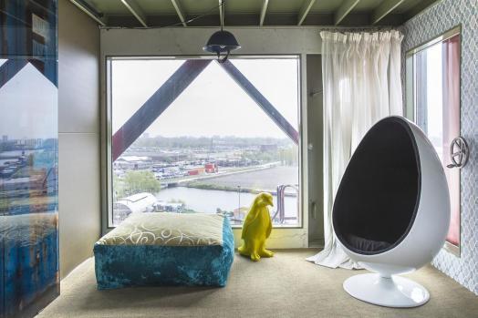Bijzondere Overnachting Origineel Overnachten Slapen in het Faralda kraanhotel Amsterdam3