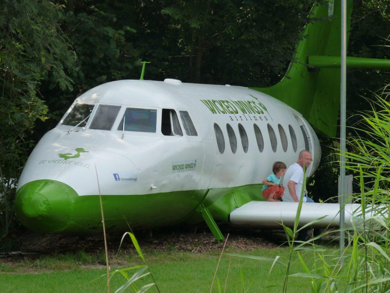 Bijzondere Overnachting Origineel Overnachten Slapen in een vliegtuig Vreemde Vogel Vlaardingen2