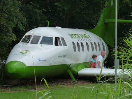 Origineel overnachten in een vliegtuig