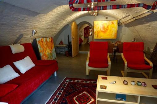 Bijzondere Overnachting Origineel Overnachten Kunstzinnig appartement in Utrechtse werfkelder5
