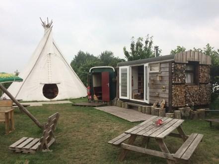 Origineel overnachten in een tipi tent5