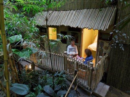 Slapen in de Jungle Cabana van Center Parcs Het Heijderbos