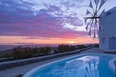 Vakantie windmolen villa Santorini Griekenland 17