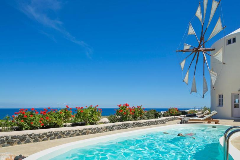 Vakantie windmolen villa Santorini Griekenland 2