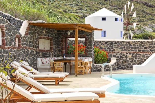 Vakantie windmolen villa Santorini Griekenland 8