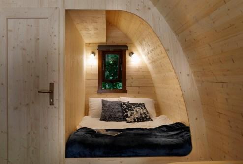 Slapen in het bos in een boshuisje Veluwe Buitenplaast Beekhuizen 9