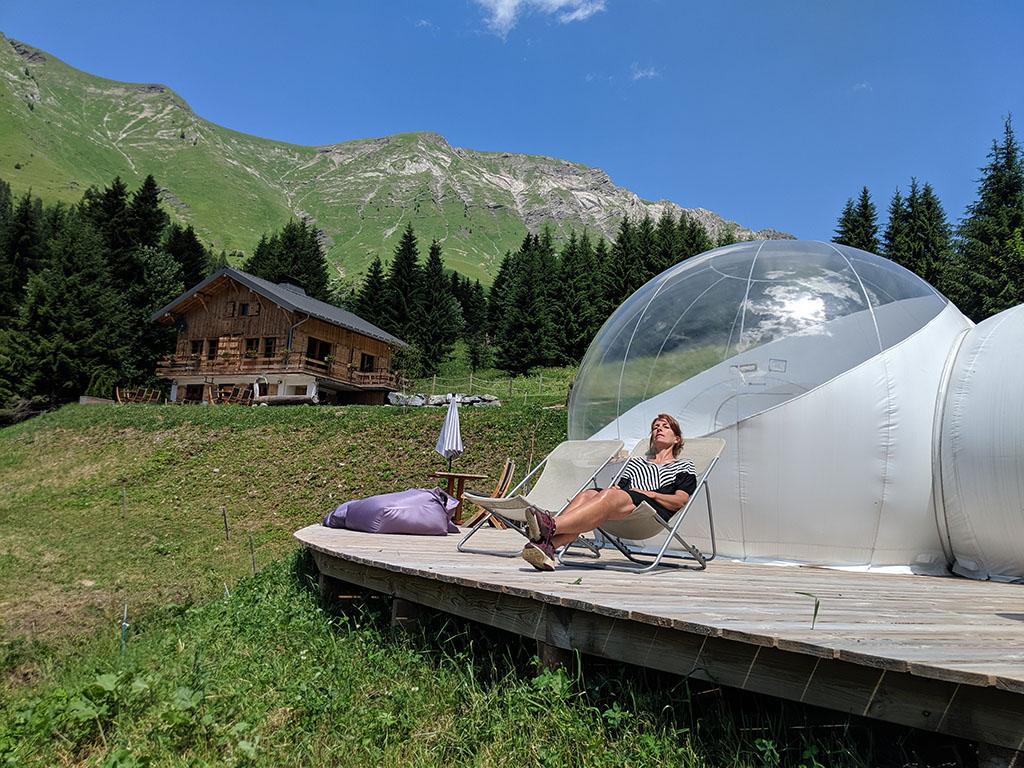 Slapen in een bubbeltent in Frankrijk