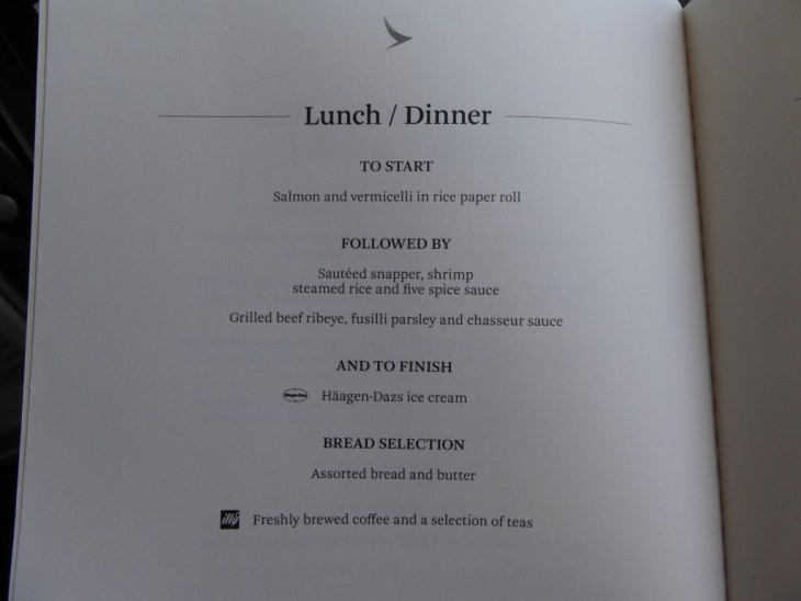 Cathay Dragon Business Class