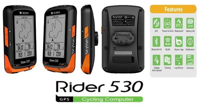 Ciclocomputador GPS Bryton Rider 530